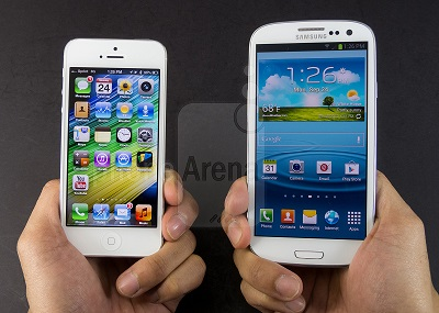 galaxy note 3 vs iphone 5s